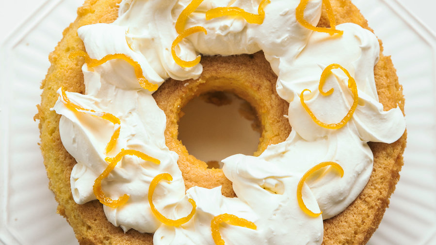 Corn Flour and Orange Blossom Chiffon Cake