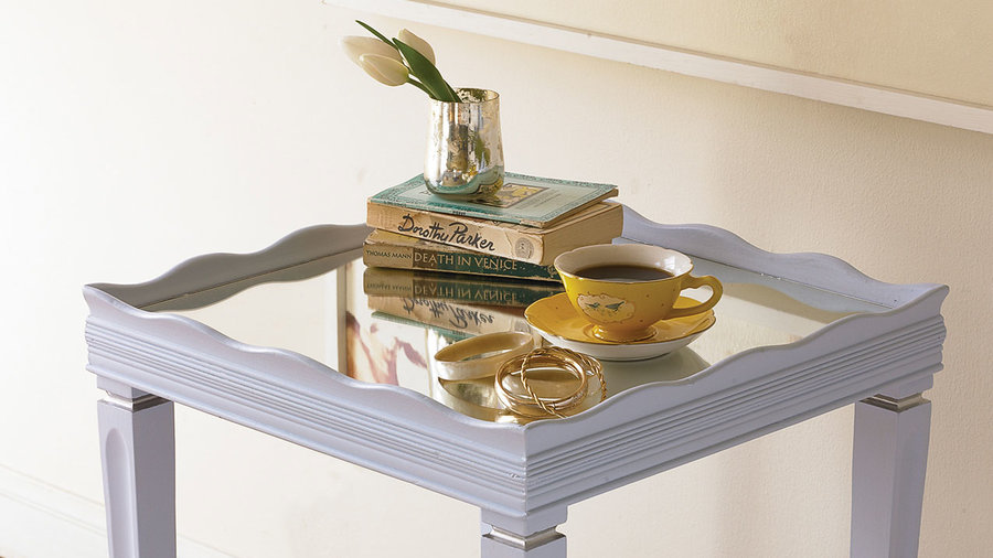 Mirror-top side table