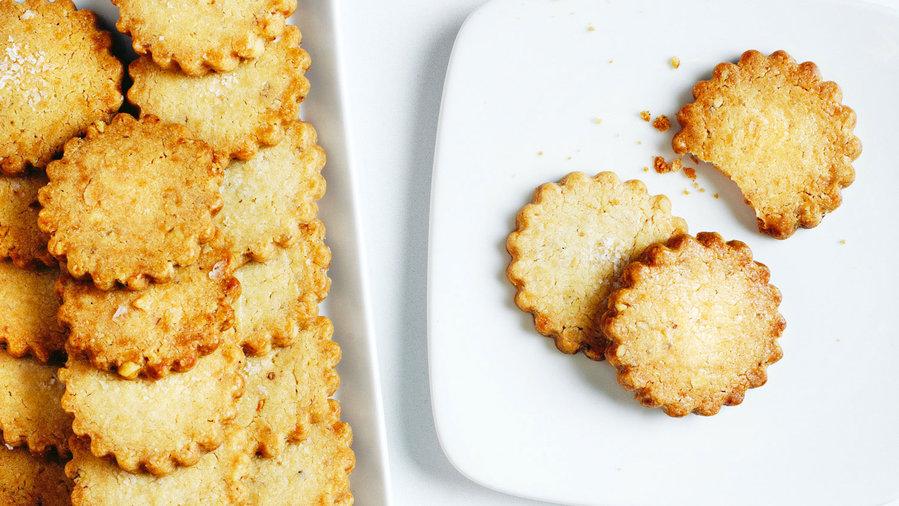Yigit Pura: Walnut Shortbread Cookies with Flake Salt and Citrus (0213)