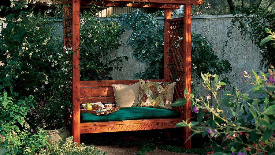 Wondrous How To Build A Garden Arbor Bench Sunset Magazine Pdpeps Interior Chair Design Pdpepsorg