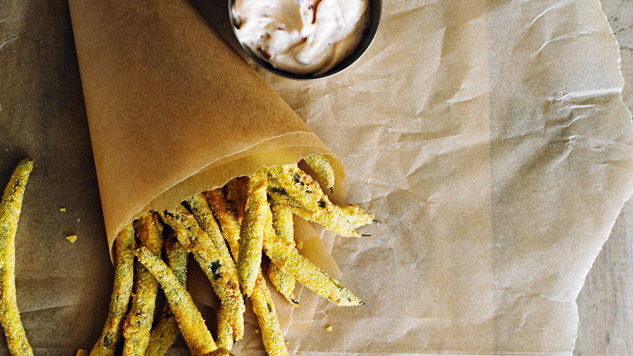 Fries: Green Bean Fries with Spicy Mayo (0715)