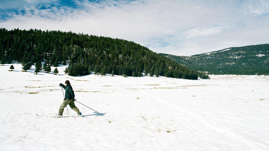 Valles Caldera cross-country skiing