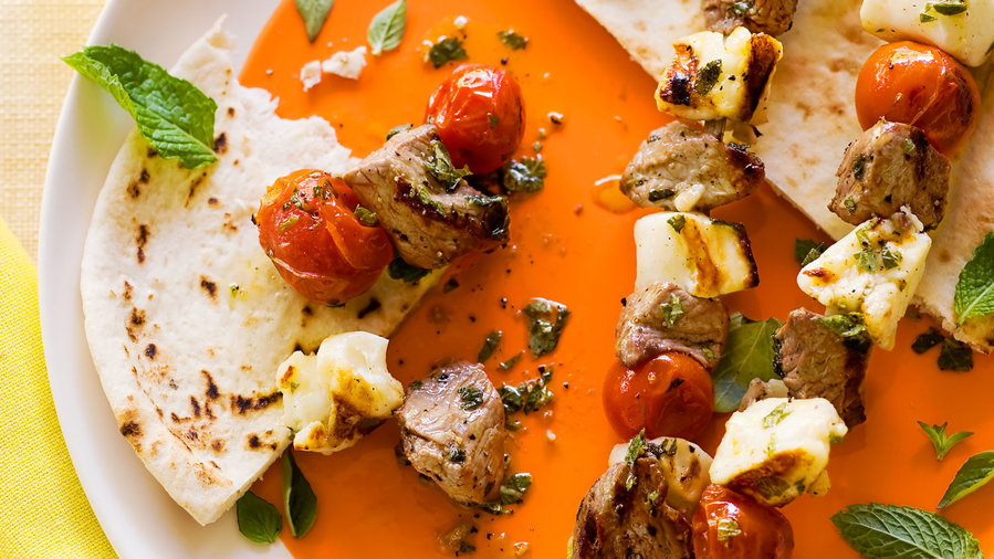 F&F Med: Grilled Lamb and Halloumi Kebabs (0412)