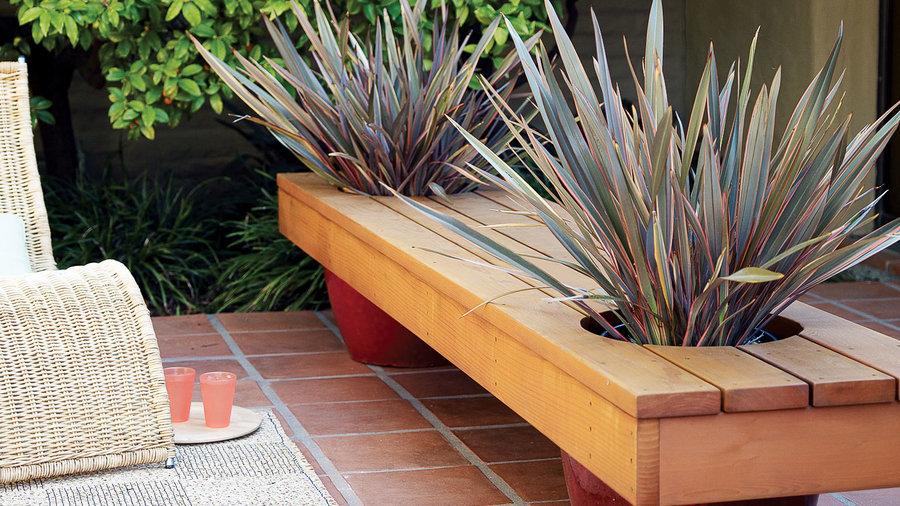 Modern Planter Bench Sunset Magazine