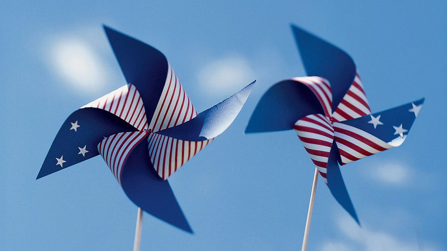Star-spangled pinwheels