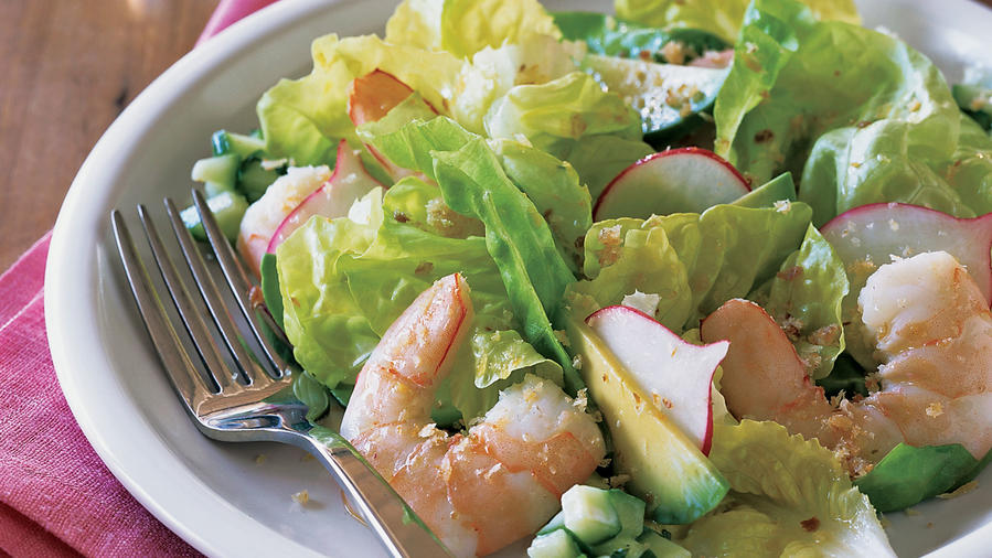 Spring fresh shrimp salad