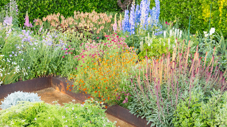 how to design a flower garden. The view from above 10 Great Flower Garden Design Tips  Sunset Magazine