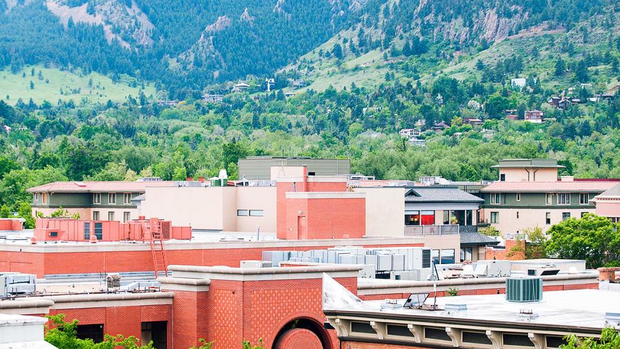 Boulder Flatirons view