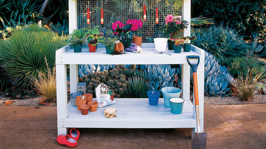 Backyard potting center