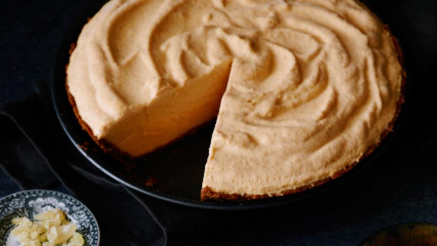 Pumpkin Ice Cream Pie Gingersnap Crust Recipe The Kitchen