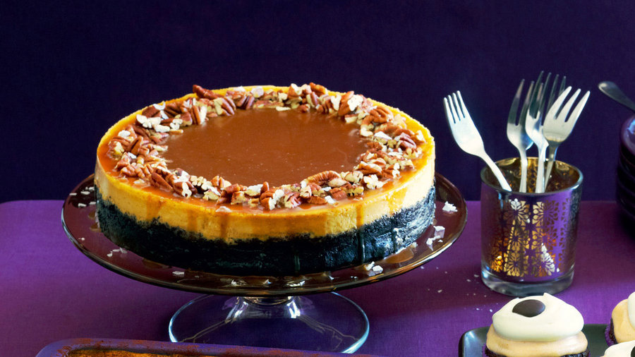 8 pumpkin pie recipes to fall for: Pumpkin-Orange Cheesecake with Chocolate Crust and Salted Caramel (1116)