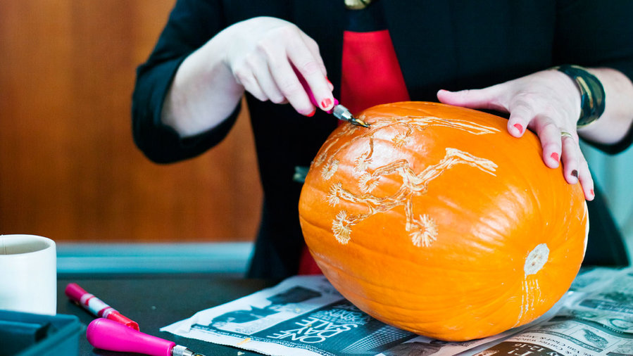 How to Carve Elegant Pumpkins