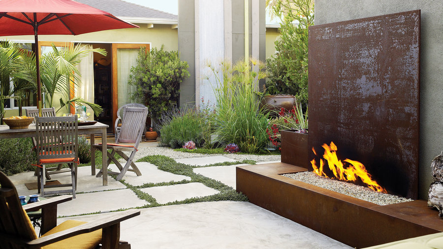 Space to unwind firepit