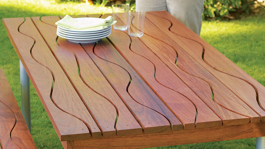 Wavy picnic table project