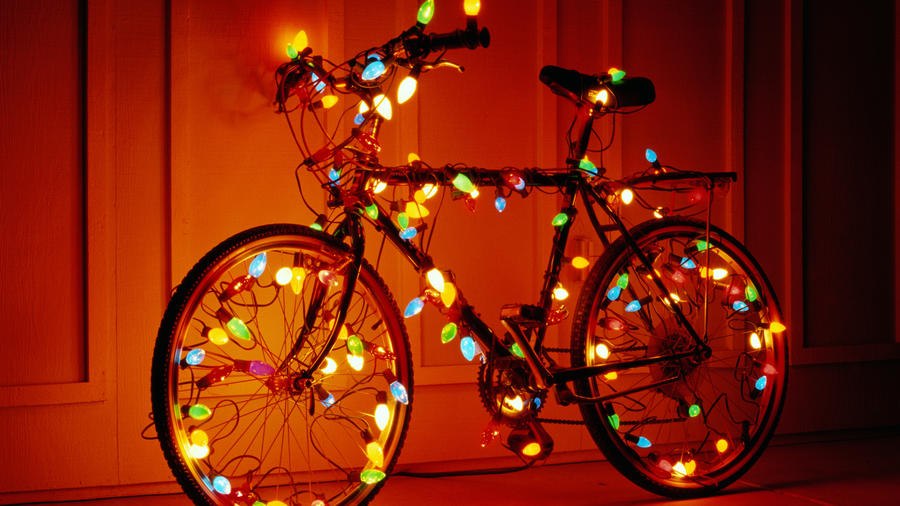 String lights bicycle