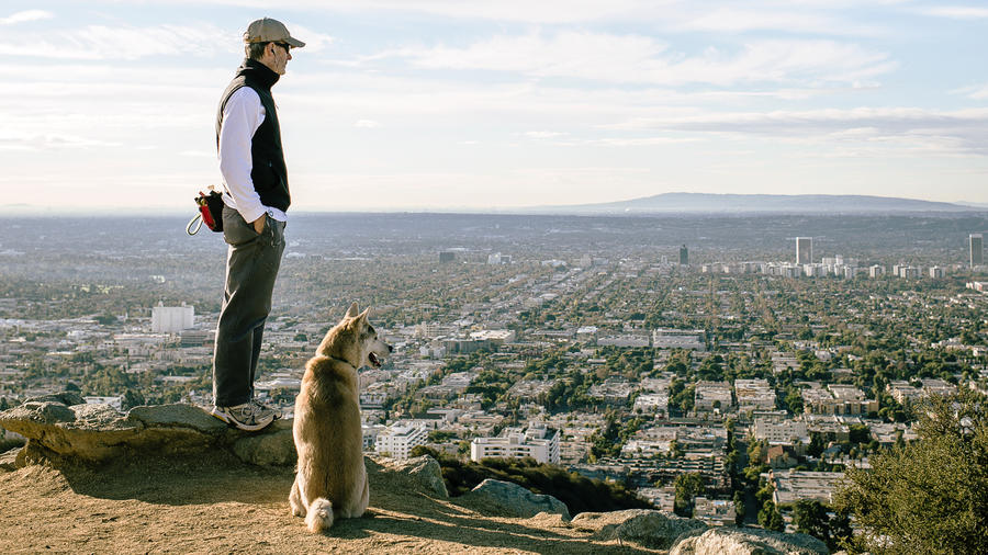 dog friendly vacations at Runyon Canyon in L.A.