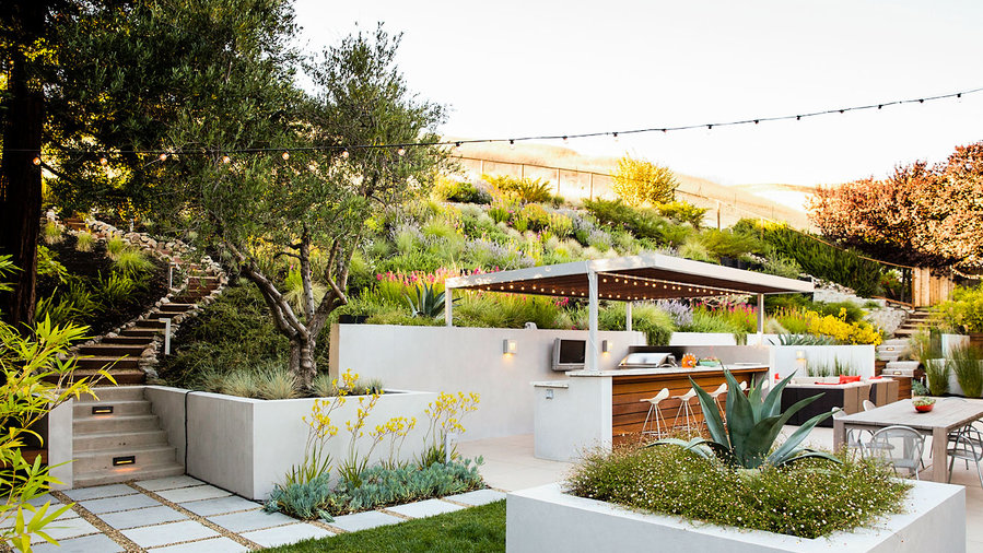 A Hillside Garden S Ingenious Design Sunset Magazine