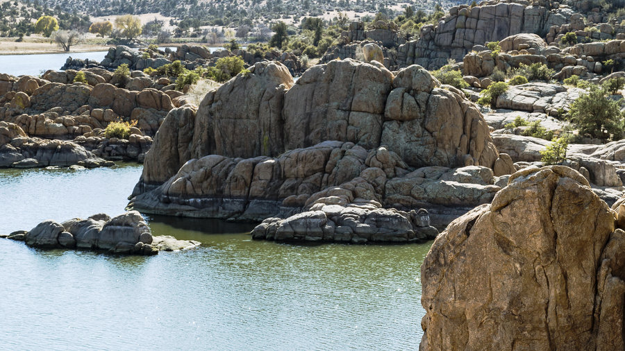 Watson Lake surrounded by Granite Dells in Prescott, Arizona