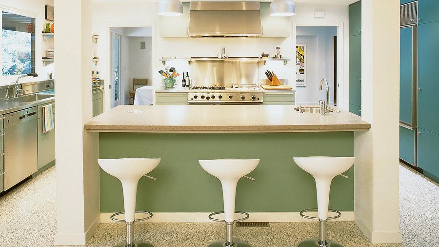 Sleek, open kitchen