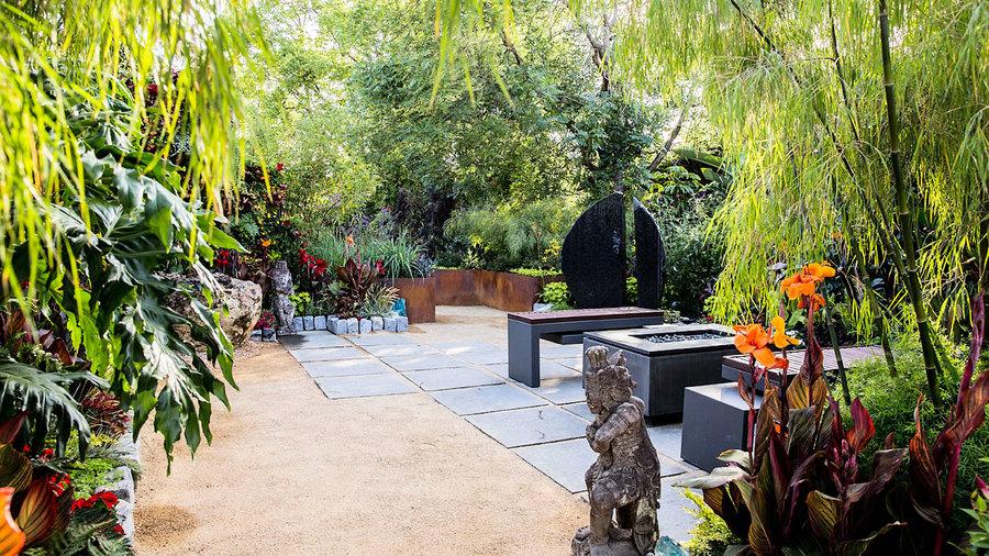 Ideas For A TropicalThemed Garden Sunset Magazine - Tropical backyard ideas