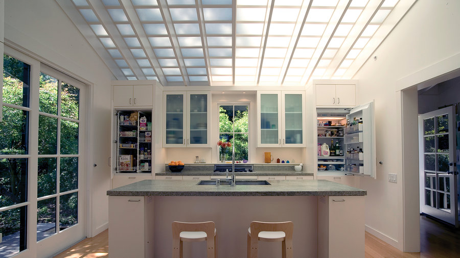 Light-infused kitchen