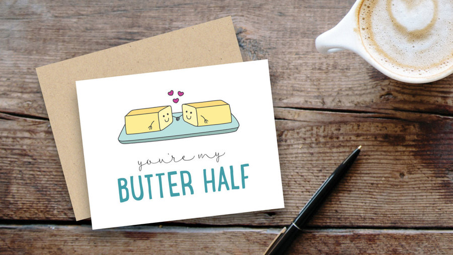 Butter Valentine's card