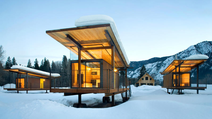 Unusual hotel in Washington is made of tiny house rolling huts