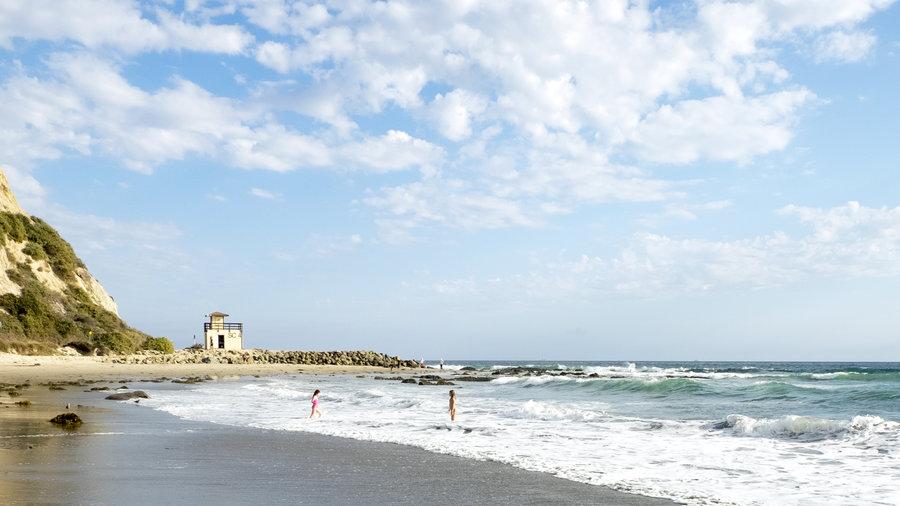 The beach in California near Salt Creek Beach Park