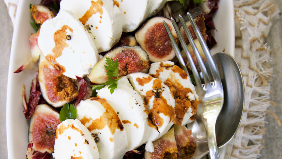 Best of 2012: Fresh Goat Cheese and Radicchio Salad with Figs (1212)