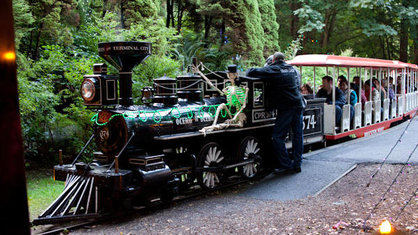 The haunted ghost train, one of the haunted houses in Vancouver