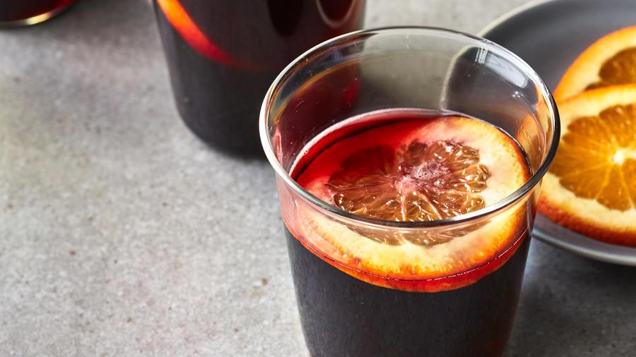 Orange-Scented Mulled Wine (1209)