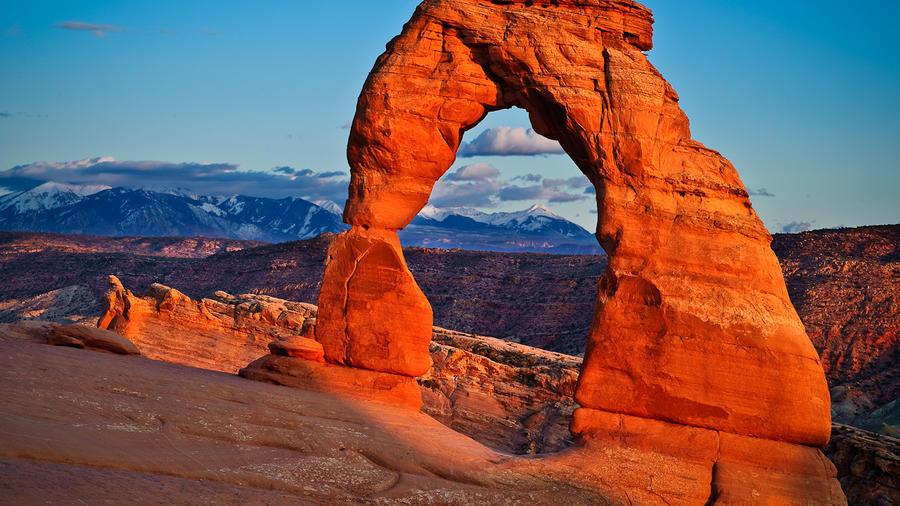 Arches National Park's sandstone arches