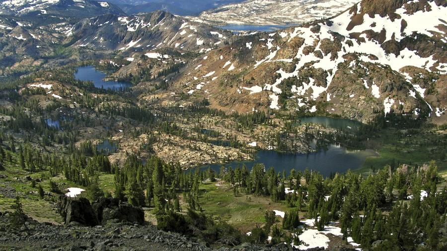 The beauty of the PCT: This shot was taken in  California's Desolation Wilderness, near Dick's Pass, looking south.  (Photo by Steve Dunleavy, via Flickr.)