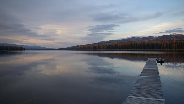Seeley Lake, Montana, was Norman Maclean's summer home for decades. Photograph by Tim Gage.
