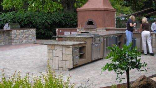 More space for growing food: Introducing our new outdoor kitchen (come see it this weekend)