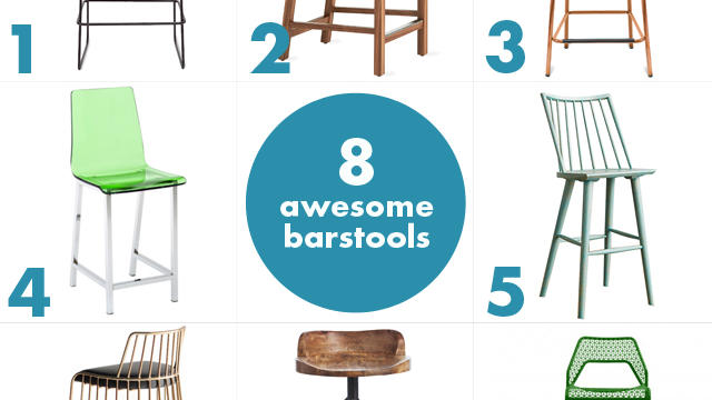 Instant upgrade: 8 awesome barstools