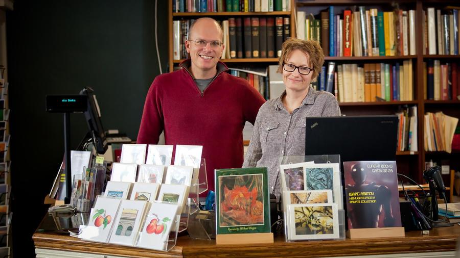 Scott Brown and Amy Stewart, owners of Eureka Books, Eureka, Calif. (c) Delightful Eye Photography