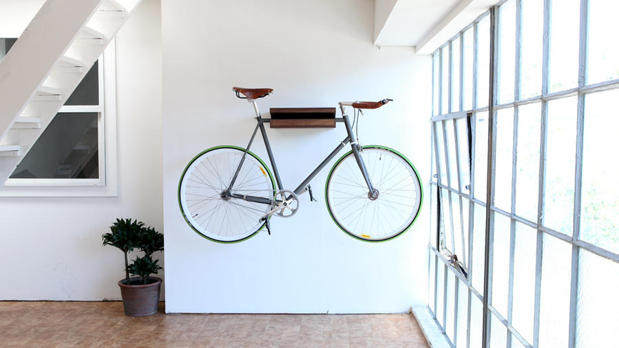 Bike shelf from Knife & Saw