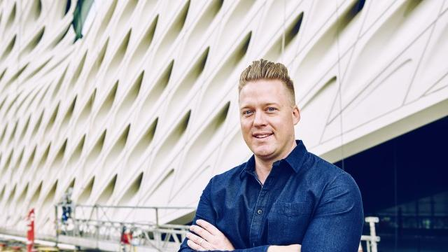 Tim Hollingsworth, chef of the new Otium restaurant at downtown L.A.'s equally new Broad Museum. Photograph by Sierra Prescott.