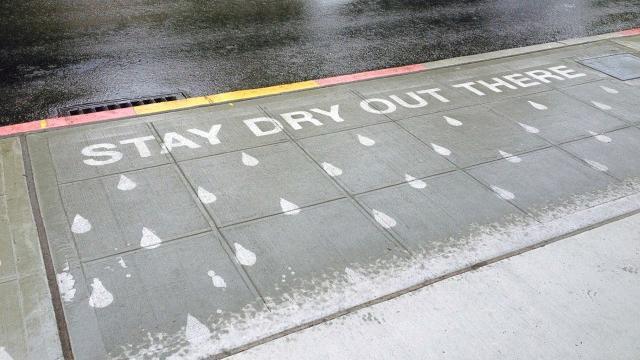 Add a little rain, and like magic a message appears. (Peregrine Church)