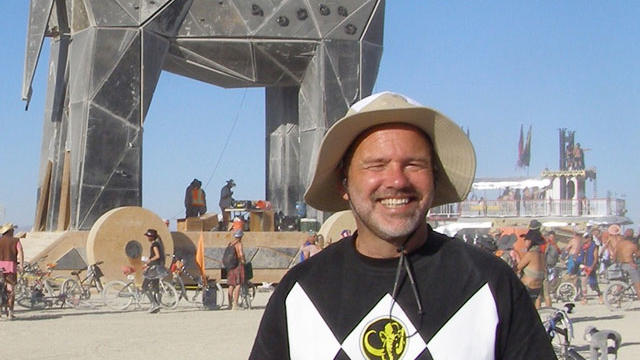 The author at Burning Man.