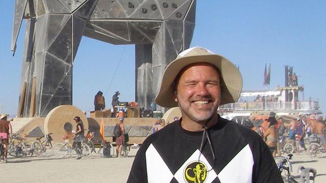 The author at Burning Man.