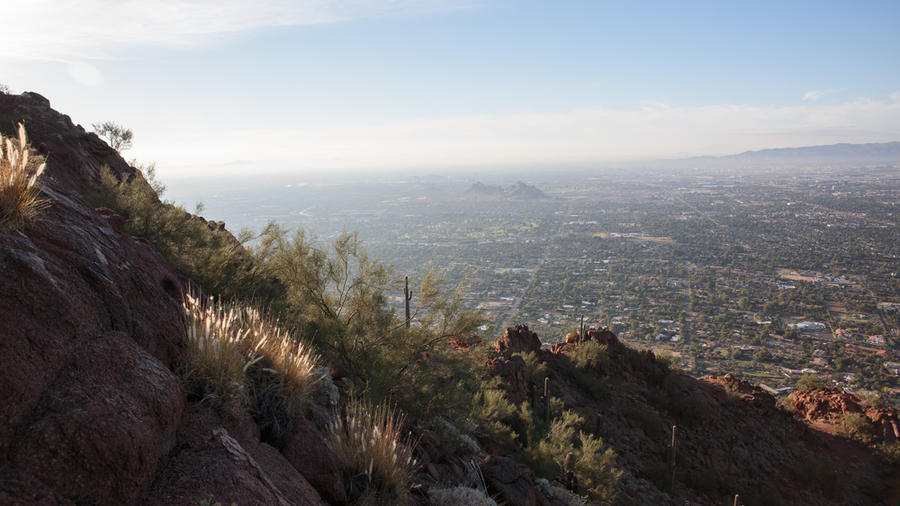 The view from Camelback Mountain. (Photographs by Chris Hinkle.)