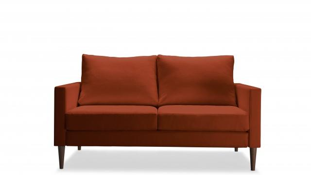 The Loveseat in our favorite color, Sunset Orange, by Campaign. (Courtesy of Campaign)