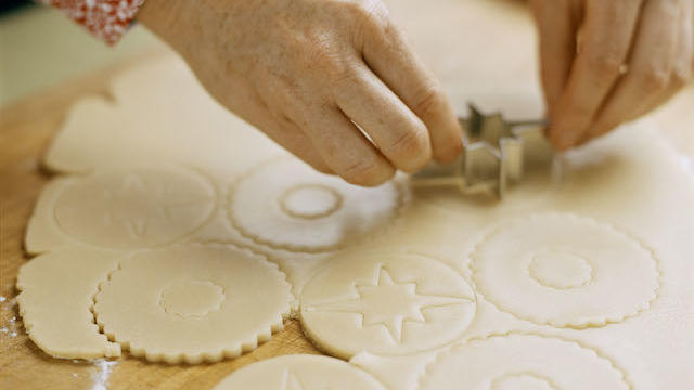 Cutting Sunset's Favorite Sugar Cookie Dough. (Thayer Allyson Gowdy)