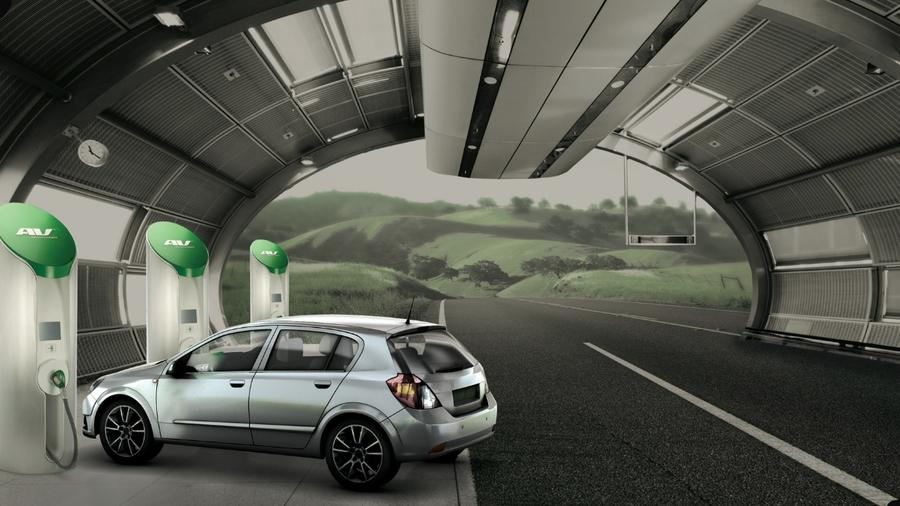 The electric car road trip of the future