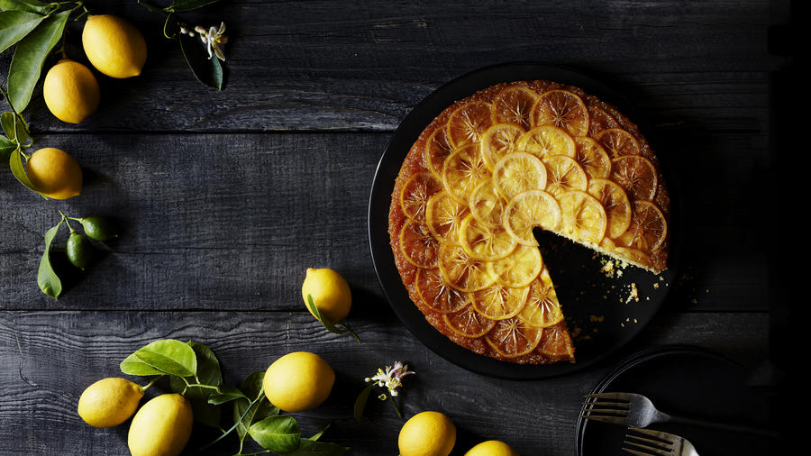 Meyer Lemon Cornmeal Upside-Down Cake (Photo by Ngoc Minh Ho)