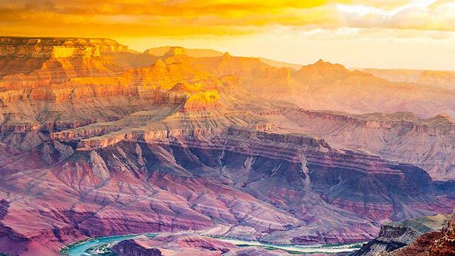 Sunrise over the Grand Canyon—no filter needed. (Photo by Thomas J. Story / Sunset Publishing.)