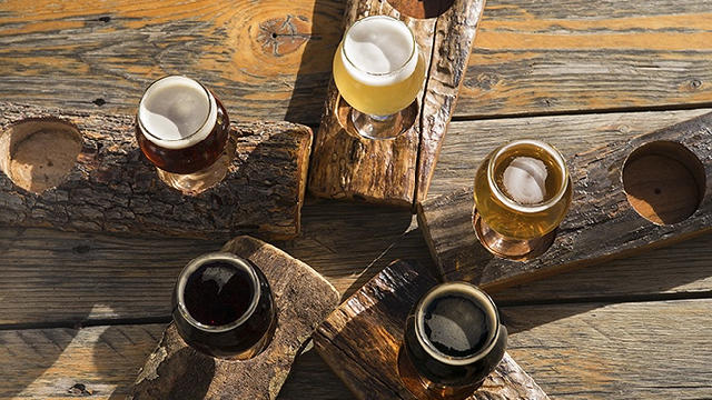 A flight at Arizona Wilderness Brewing Co. (Chris Hinkle / Sunset Publishing)