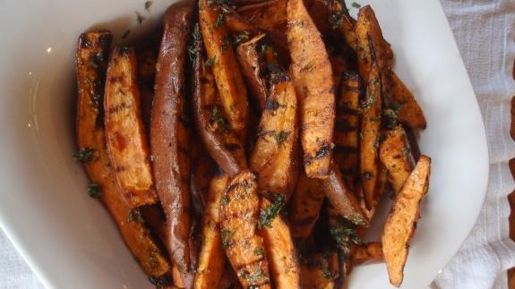 The flavors of fall: Grilled Rosemary Sweet Potatoes